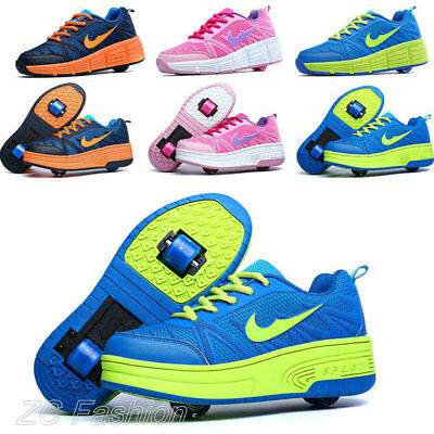 Unisex Kids Retractable Single/Dual Wheel Sport Shoes Boys Girls Roller Shoes