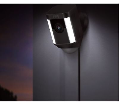 RING Spotlight Cam-Full HD 1080p-Compatible with iOS/Android /Windows - Black