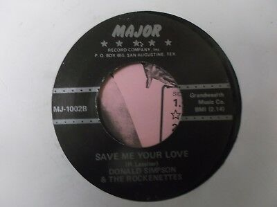 Rockabilly Donald Simpson / Save Me Your Love, Terriffic Rockabilly