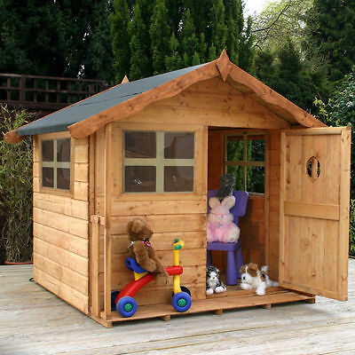 5ft x5ft WOODEN WENDY PLAYHOUSE KIDS WOOD PLAY HOUSE DEN GARDEN TOY NEW UN USED