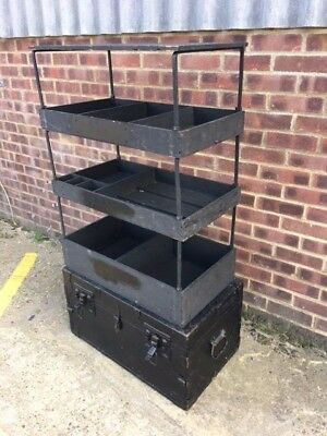 Superb Military / Campaign Trunk with collapsable interior
