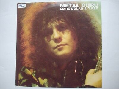 marc bolan & t.rex, metal guru, 7 inch single, AS NEW, marc 502, 1991