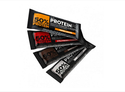 50% Protein Bars 45g 10 Bars ProteinPro FCB High Protein Low Sugar Fitness Snack