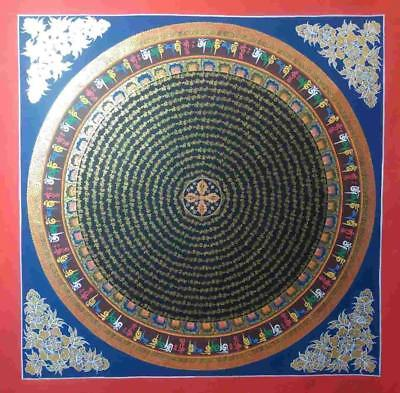 Original Handpainted Tibetan Chinese Mandala Thangka Painting Meditation Art A2
