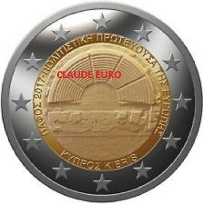 2 Euro Unc Commemorative Chypre 2017 Capitale Europeenne De La Culture