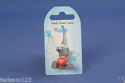 Me To You -    ' Heart Mobile Phone Charm With Bell '  -   Brand New  - Sale!!