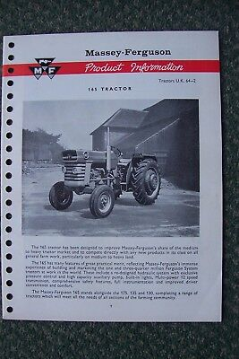 Massey Ferguson 165 Tractor Product Information