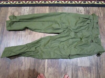 Australian Army Jungle Green Cotton Trousers, dated 1964.