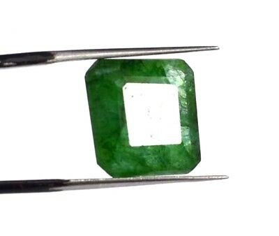 "EGL Certified 10.35 Ct Natural Emerald Cut A+ Green Emerald Gemstone ""Hurry Now"""