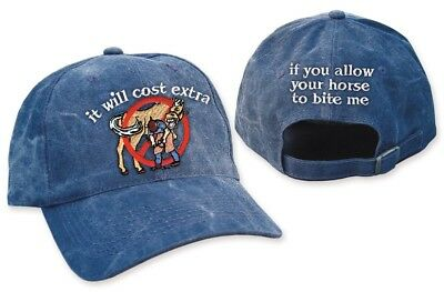 It Will Cost Extra If You Allow Your Horse to Bite Me Cap Great Farrier gift