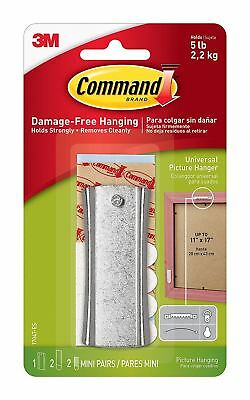Command Metal Sawtooth Sticky Nail Strips Picture Clock Hook Damage Free Hanging