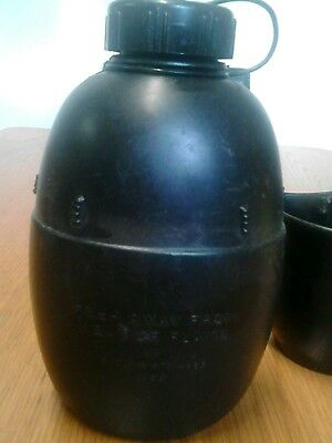 British army surplus water bottle1988 and cup 1978.