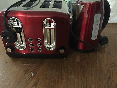 Asda Toaster And Kettle In Red