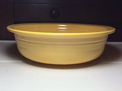 """Vintage Yellow Fiesta ware 8.5"""" bowl made in USA"""
