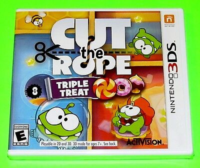 Cut the Rope: Triple Treat (Nintendo 3DS, 2014) NEW