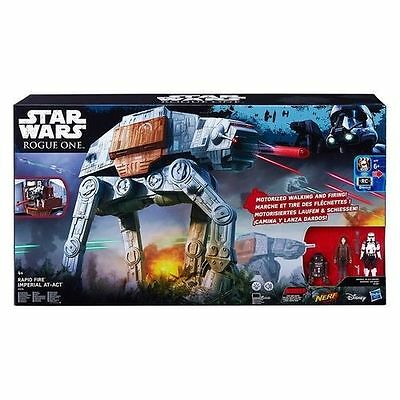 Star Wars Hasbro Rogue One Motorisé AT-ACT véhicule  AT-AT avec 3 figurines NEUF