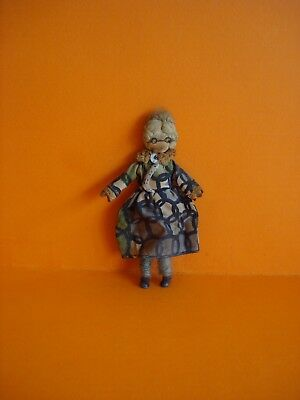 Vintage Dolls House - Grecon Grandmother Doll With Label - 16Th Scale