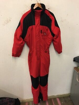 Size 15/16 Years Red Zip Fastening Long Sleeve One Piece Ski Suit By Trespass