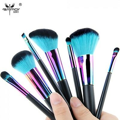 Original Make up Brushes 7pcs Set Rainbow Spectrum Anmor Set Xmas Gift Set