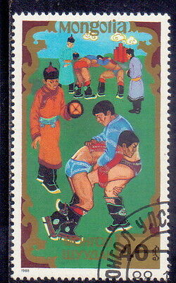 Mongolia STAMP  Traditional Sports (Wrestling)  1988.