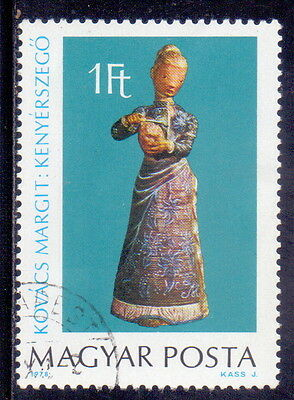 Hungary STAMP Woman cutting bread Theme  Sculptures 1978.
