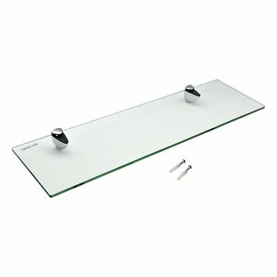 Floating Glass Bathroom Wall Storage Display Shelves - 50cm - x1