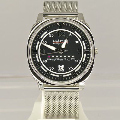Nautec No Limit Herrenuhr Square SQAR-QZ-STM4-STST-BK
