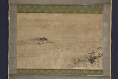 JAPANESE HANGING SCROLL ART Painting Scenery Asian antique  #E8093