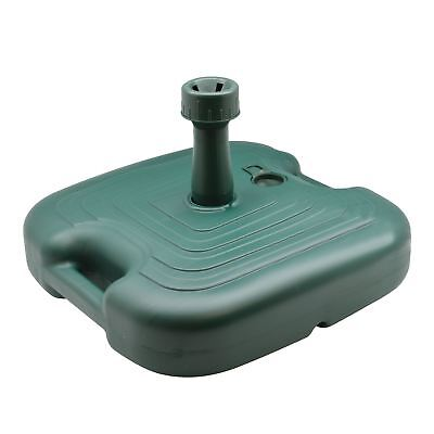Parasol Umbrella Sunshade Base Stand Holder Green Plastic - Fill with Sand/Water