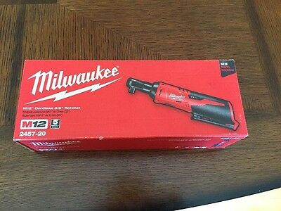 """Milwaukee M12 3/8"""" Drive 2457-20 Cordless Ratchet(Tool Only) 12V Brand New 2017"""