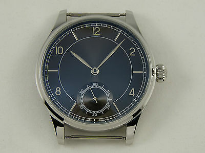 Unitas ETA 6498 BLACK SUNRAY  Watch Case + Dial + Hands UhrenGehäuse France