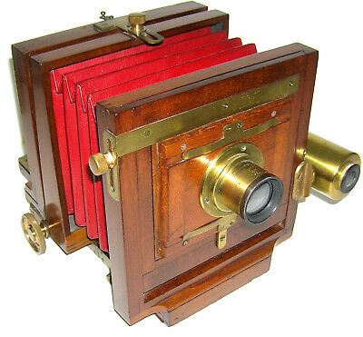 1880's American Opt.Co. Scovill Mfg. NY 4 x 5 Folding View Camera w/Finder
