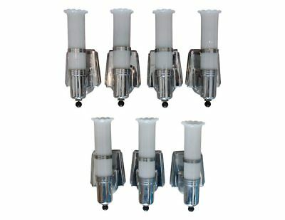 Art Deco Cylindrical Sconces, set of 7