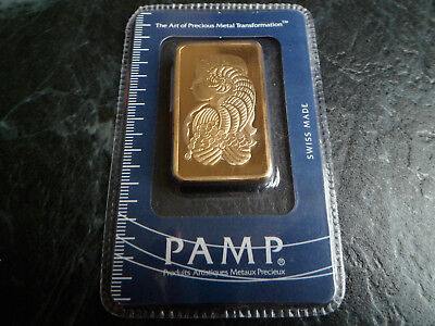 1 Ounce Gold Plated Bullion Bar 1 Troy Oz 1Oz