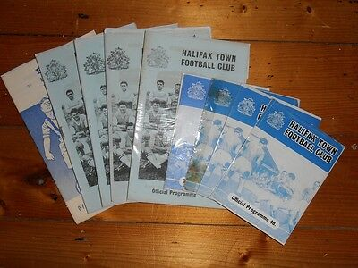 1960-65 HALIFAX TOWN HOME FOOTBALL PROGRAMMES - Your choice - FREE Postage