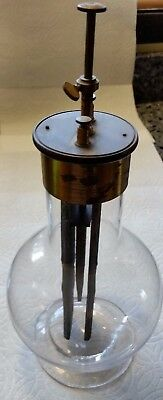 Pre-1900 Grenet Battery Jar Museum Quality Edison,Tesla,Geissler,Scientific,