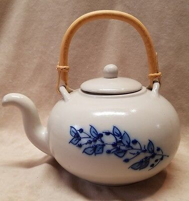 Salmon Falls Blueberry Teapot Mint Condition Salt Glaze Stoneware 2002