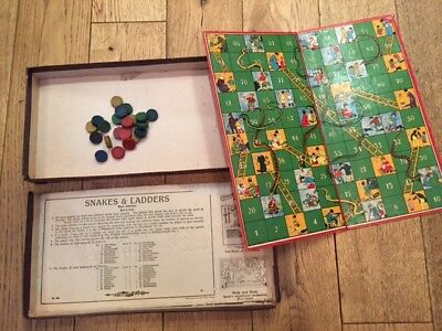 Spears vintage Snakes and ladders game