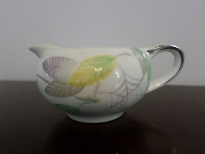 Vintage Gray's Pottery small hand painted Cream Jug, spider's web