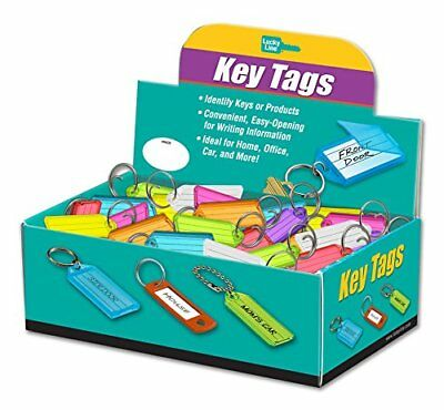 Lucky Line Key Tag with Tang Ring; Assorted Colors; 100 Per Box 12300