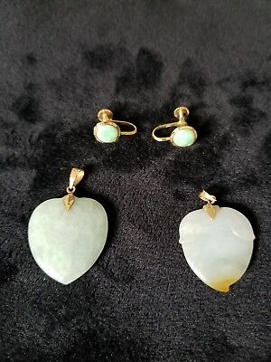 14k gold and Jade lot