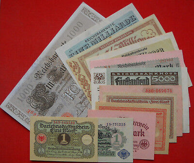 12 x Money/Banknote Collection from German Land, ...all in UNC/aUNC condition !!