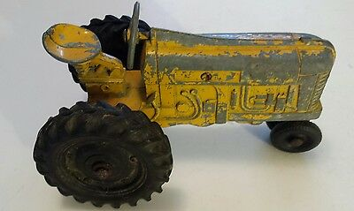 Rare Yellow Cast Iron(?) Row-Crop Farm Tractor-Unknown Manufacturer Or Make-Nice