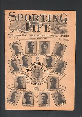 1908 Sporting Life Baseball Magazine Holyoke Connecticut League W601 Composite