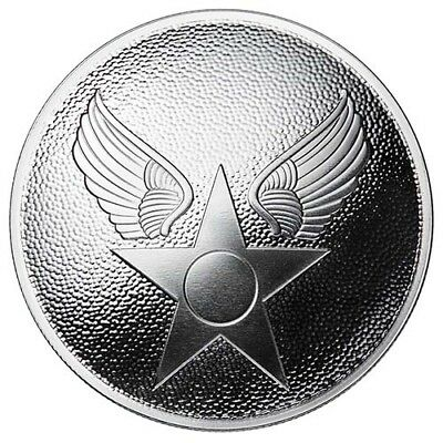 Limited Edition U.S. Armed Forces Series Air Force Button Domed Silver USA Round