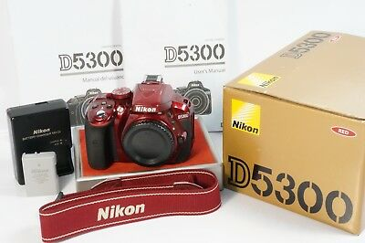 Nikon D5300 24.2Mp Dslr Red Camera Body **technicain Cleaned & Checked **