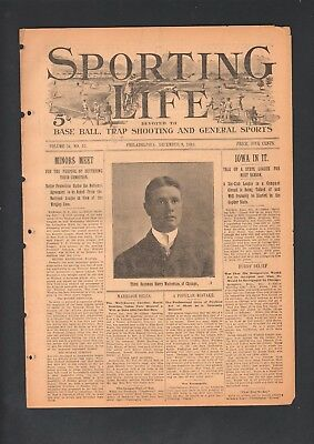 1899 Sporting Life Baseball Magazine Harry Wolverton Chicago Orphans Rookie Pose