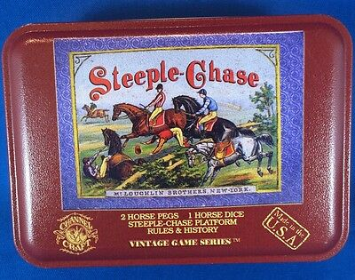 STEEPLE CHASE Channel Craft Nostalgic Toy Tins Made in USA Factory Sealed