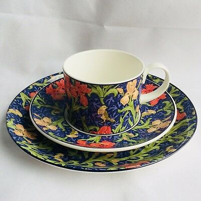 "Vintage Dunoon ""Iris"" Fine Bone China Trio Tea Set William Morris Design"