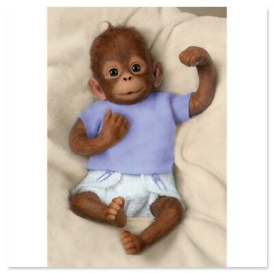 Ashton Drake - Jojo So Truly Real Baby Monkey Doll by Linda Murray